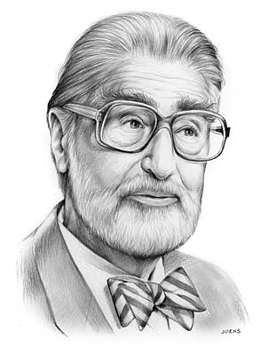 Cartoonist Drawing - Dr. Seuss by Greg Joens