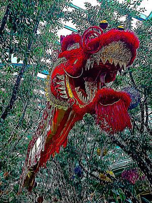 Dragon Photograph - Dragon Air Dance by Lucky Chen