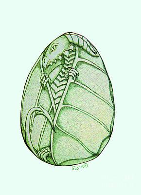 Dragon Egg Print by Nick Gustafson