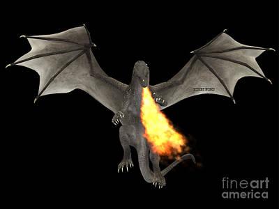 Dragon Fire Print by Corey Ford