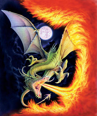 Dragon Fire Print by The Dragon Chronicles