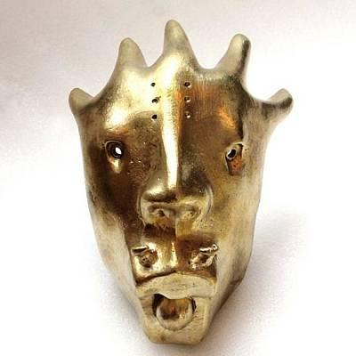Sculpture - Dragon Mask by Fine Art