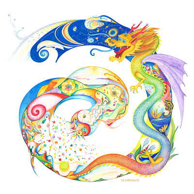 Drago Painting - Dragon Of Art And Music by Gloria Di Simone