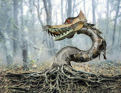 Tree Roots Digital Art - Dragon Root by Rick Mosher