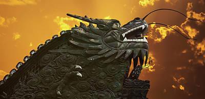 Dragon Wall - Yu Garden Shanghai Original by Christine Till