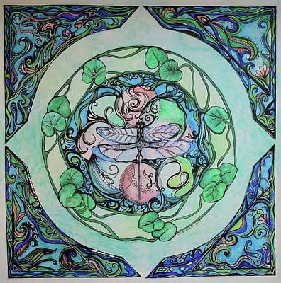 Creativity Drawing - Dragonfly Dreams by Sandra Borrmann