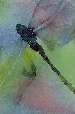 Dragonflies Painting - Dragonfly In Flight by Gladys Folkers