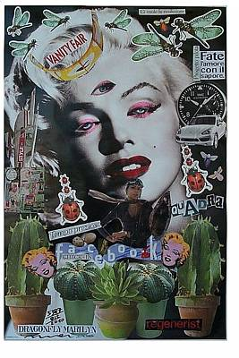 What Is Life Mixed Media - Dragonfly Marilyn  by Francesco Martin