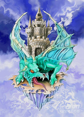 Dragons Keep By Spano Print by Michael Spano
