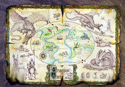Dragons Of The World Print by The Dragon Chronicles - Garry Wa