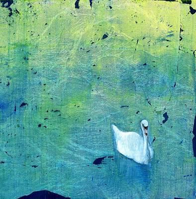 Drake Park Swan Original by Patt Nicol