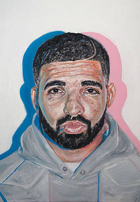 Drizzy Painting - Drake by Steph Maiden