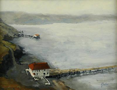 Heather Burton Painting - Drakes Bay Point Reyes by Heather Burton