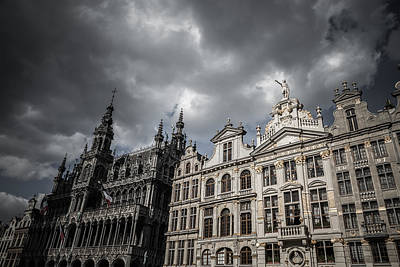 Brussels Photograph - Drama At Grand Place by Chris Fletcher