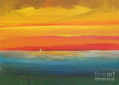 Jacaranda Painting - Dramatic Sky Beach by Alicia Maury