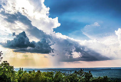 Landscape Photograph - Dramatic Sunrays Over The Valley by Shelby Young