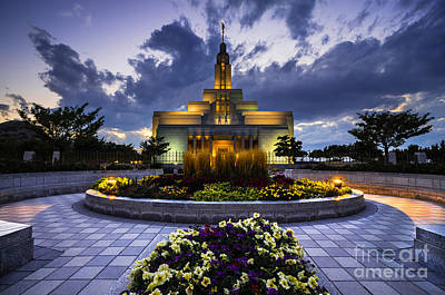 Draper Mormon Lds Temple - Utah Print by Gary Whitton