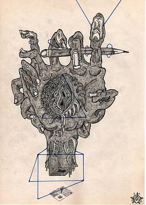 Praha Drawing - Draw Or Die by Denis Bronnikov