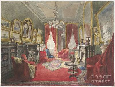 Drawing Room Of The Fogg Residence Print by Roswell Morse