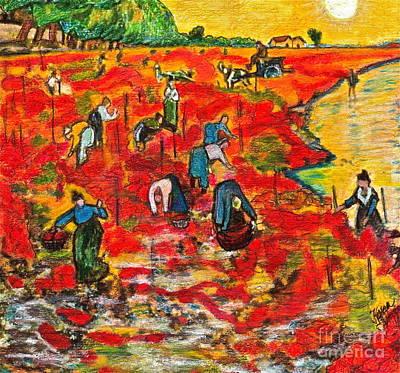 Drawing Van Gogh Print by Karen Kinzie