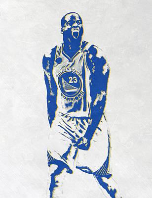 Draymond Green Golden State Warriors Pixel Art Print by Joe Hamilton