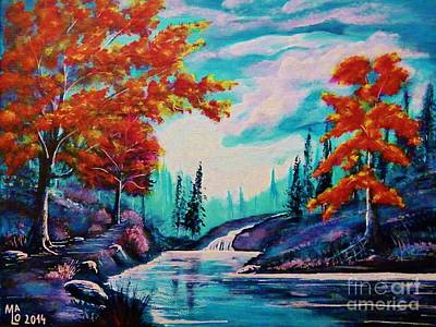 Inner World Painting - Dream Along The Riverside by Mario Lorenz