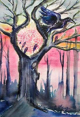 Spirit Catcher Painting - Dream Catcher by Christine Kfoury