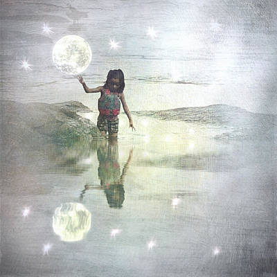 To Touch The Moon Print by Melissa D Johnston