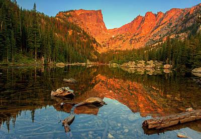 John Hallett Photograph - Dream Lake Sunrise by John Vose