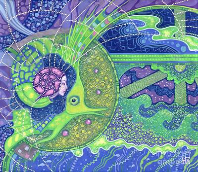 Inner Self Painting - Dream Of The Fullmoon by Julia Khoroshikh