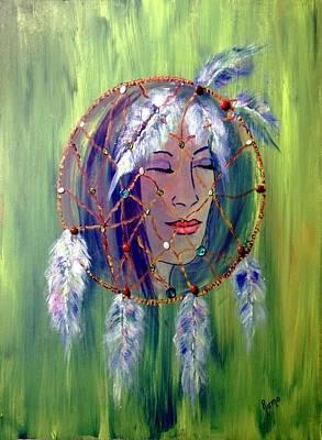 Dreamcatcher Painting - Dreamcatcher by Robin Monroe