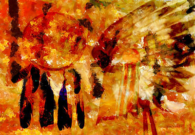 Dreamcatcher Painting - Dreamcatcher by Valerie Anne Kelly