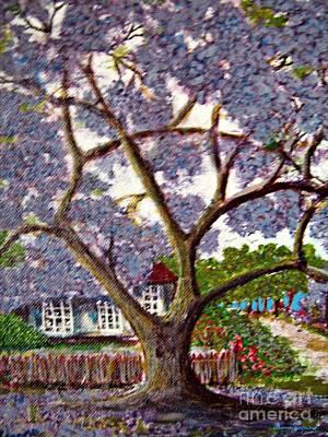 Jacaranda Tree Painting - Dreaming by Leanne Seymour