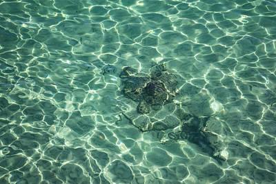 Blueish Photograph - Dreaming Of A Seaside Vacation - Crystal Clear Mediterranean Sunshine by Georgia Mizuleva