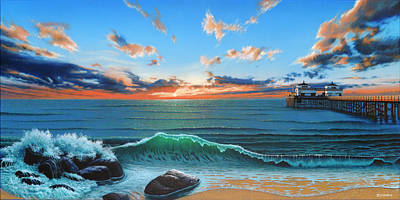 Malibu Painting - Dreaming Of Malibu Beach by Ross Edwards