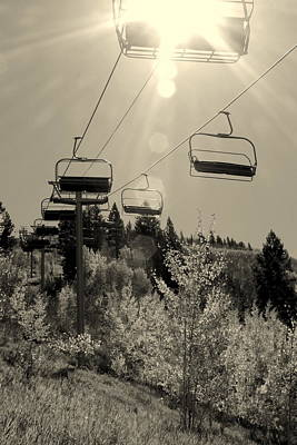 All Around Us Photograph - Follow The Light To The Chair Lift by Fiona Kennard