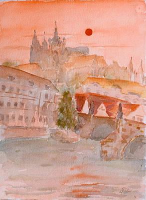 Czech Republic Painting - Dreams Of Prague by Carlos Flores