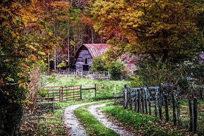 Red Roof Photograph - Dreams On The Farm by Debra and Dave Vanderlaan
