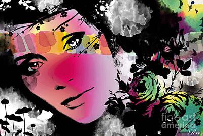 Faces Digital Art - Dreams by Ramneek Narang