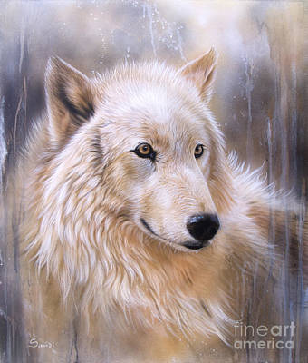 Airbrush Painting - Dreamscape - Wolf II by Sandi Baker