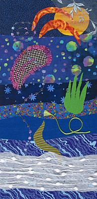 Fabric Mixed Media - Dreamscape Day by Julia Berkley
