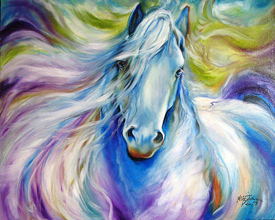 Horse Eye Painting - Dreamscape Freisian by Marcia Baldwin
