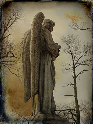 Graveyard Digital Art - Dreamt Of An Angel Of Stone by Gothicolors Donna Snyder