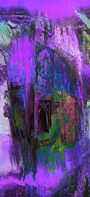 Long Street Digital Art - Dreamy Arches Purple Abstract Sun Fort Rajasthan India 2e by Sue Jacobi