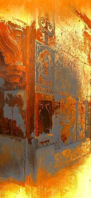 Long Street Digital Art - Dreamy Arches Sunny Yellow Abstract Sun Fort Rajasthan India 2f by Sue Jacobi