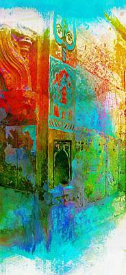 Long Street Digital Art - Dreamy Arches Turquoise Abstract Sun Fort Rajasthan India 2c by Sue Jacobi