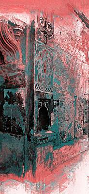 Long Street Digital Art - Dreamy Arches Turquoise Abstract Sun Fort Rajasthan India 2d by Sue Jacobi