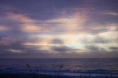 Dreamy Blue Atlantic Sunrise Print by Teresa Mucha