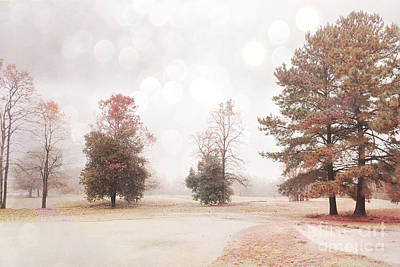 Dreamy Ethereal Serene Peaceful Nature Trees Landscape Print by Kathy Fornal