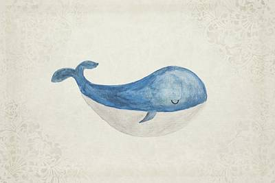 Children Painting - Dreamy Whale by James Jardine